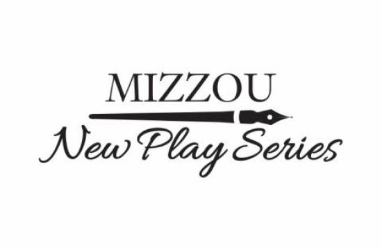 "Mizzou New Play Series logo, showing a horizontal calligraphy pen between ""Mizzou"" and ""New Play Series"""