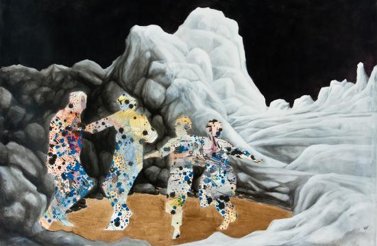 "reproduction of Jessica Thornton's ""Dance Dance"" artwork"