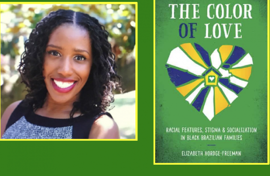 photo of the author and screenshot of the cover of her book, The Color of Law